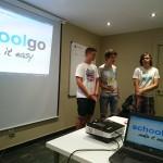 Presentant SchoolGo a emprenedors de l'espai
