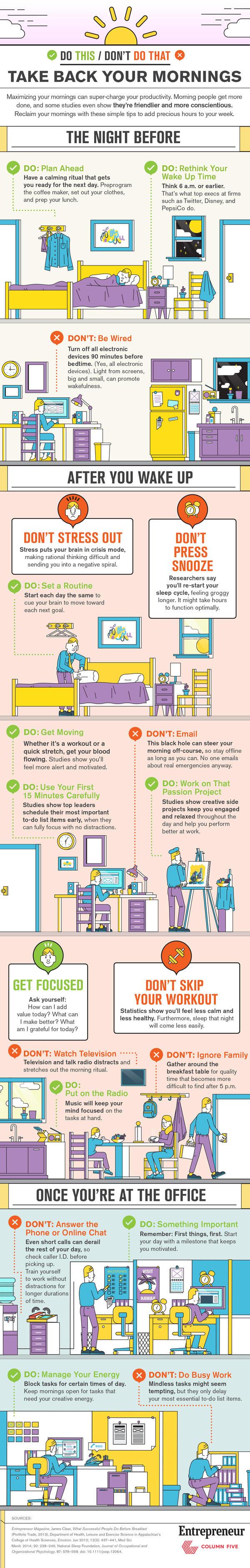 Consells per aprofitar el matí al màxim [INFOGRAFIA]